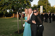 SANTA AND SIMON SEBAG-MONTEFIORE, TARA PALMER-TOMPKINSON, The Summer Party in association with Swarovski. Co-Chairs: Zaha Hadid and Dennis Hopper, Serpentine Gallery. London. 11 July 2007. <br />