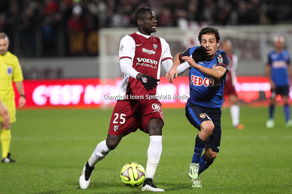 Guirane N'DAW / Bernardo SILVA - 20.12.2014 - Metz / Monaco - 17eme journee de Ligue 1 -<br />