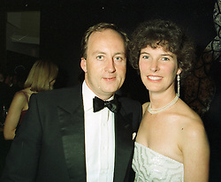 MR & MRS SHAUN WOODWARD, she is the daughter of Sir Tim Sainsbury, at an exhibition in London on 1st October 1997.MBU 96
