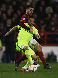 Biram Kayal of Brighton & Hove Albion and Gary Gardner of Nottingham Forest (L) in action - Mandatory by-line: Jack Phillips/JMP - 11/04/2016 - FOOTBALL - City Ground - Nottingham, England - Nottingham Forest v Brighton and Hove Albion - Sky Bet Championship