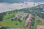Aerial views of Figali Convention Center and surrounding properties. Panama.