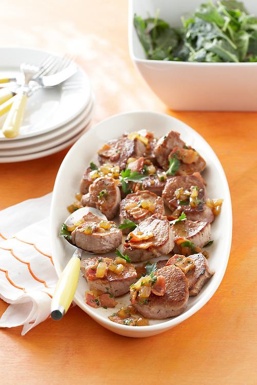 15-Minute Coastal Recipe: Pork Medallions with Bacon Vinaigrette