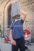 Venice Art Biennale 1999. Self-portrait by Italian artist Maurizio Cattelan / Biennale Arte di Venezia 1999. Autoritratto dell'artista italiano Maurizio Cattelan - © Marcello Mencarini