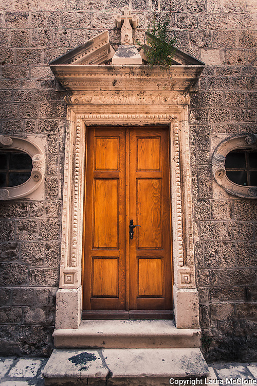 Brown Door with Stone Surround, Croatia