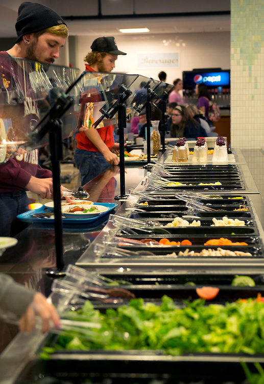 Salad bar at Shively Dining Hall. Photo by Olivia Wallace