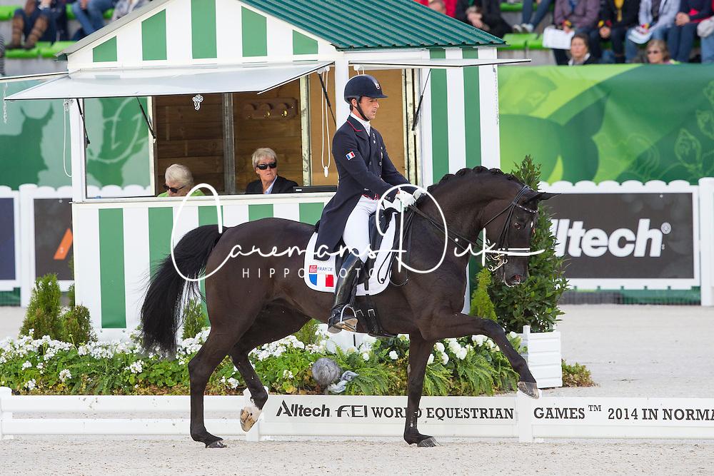 Marc Boblet, (FRA), Noble Dream Concept Sol - Grand Prix Special Dressage - Alltech FEI World Equestrian Games™ 2014 - Normandy, France.<br /> © Hippo Foto Team - Leanjo de Koster<br /> 25/06/14