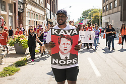 October 6, 2018 - Atlanta, Georgia, U.S. - Hundreds of people marched through the streets of Atlanta to protest the confirmation of Brett Kavanaugh to the U.S. Supreme Court. (Credit Image: © Steve Eberhardt/ZUMA Wire)