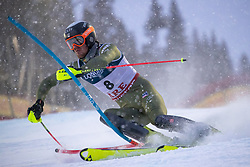 11.02.2019, Aare, SWE, FIS Weltmeisterschaften Ski Alpin, alpine Kombination, Herren, Slalom, im Bild Bryce Bennett (USA) // Bryce Bennett of the USA reacts after the Slalom competition of the men's alpine combination for the FIS Ski World Championships 2019. Aare, Sweden on 2019/02/11. EXPA Pictures © 2019, PhotoCredit: EXPA/ Johann Groder