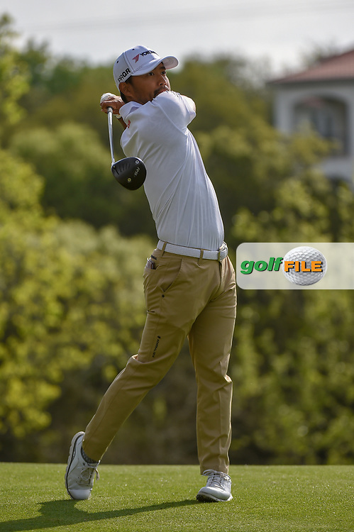 Satoshi Kodaira (JPN) watches his tee shot on 4 during day 2 of the WGC Dell Match Play, at the Austin Country Club, Austin, Texas, USA. 3/28/2019.<br /> Picture: Golffile | Ken Murray<br /> <br /> <br /> All photo usage must carry mandatory copyright credit (© Golffile | Ken Murray)