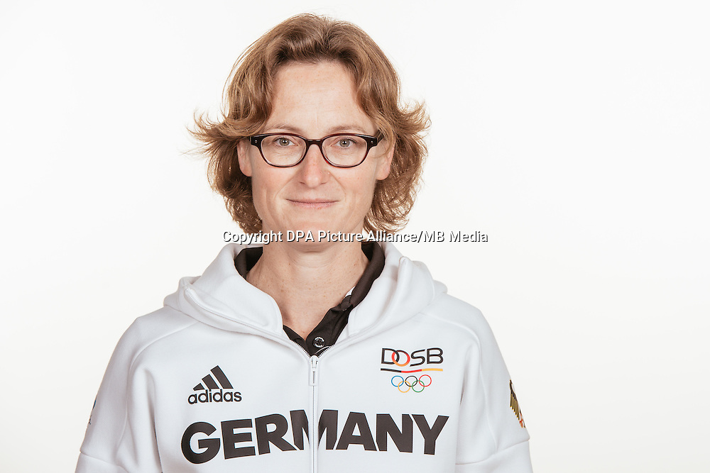 Nadine Stegenwalner poses at a photocall during the preparations for the Olympic Games in Rio at the Emmich Cambrai Barracks in Hanover, Germany, taken on 20/07/16 | usage worldwide