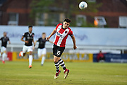 Jordan Moore-Taylor (15) of Exeter City during the EFL Sky Bet League 2 match between Exeter City and Lincoln City at St James' Park, Exeter, England on 17 May 2018. Picture by Graham Hunt.