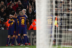 January 28, 2018 - Barcelona, Catalonia, Spain - January 28, 2017 - Camp Nou, Barcelona, Spain - LaLiga Santander- FC Barcelona v Deportivo Alaves; Leo Messi of FC Barcelona celebrates the 2-1. (Credit Image: © Eric Alonso via ZUMA Wire)