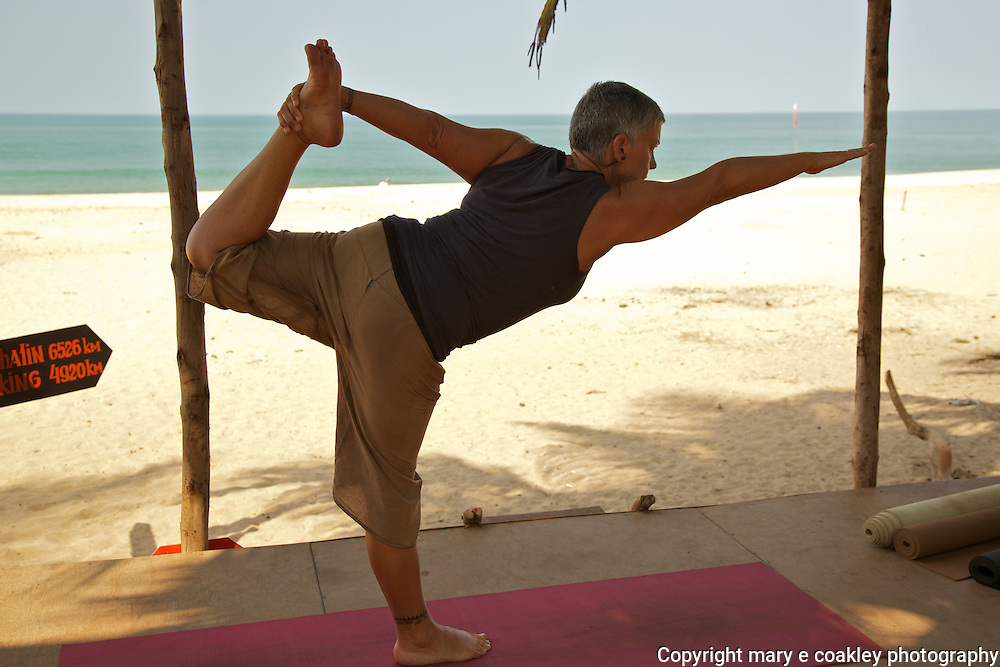 Yoga on Agonda Beach, Goa India