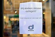 Nederland, Nijmegen, 24-12-2015Een winkel van Dixons vraagt nieuw personeel, nieuwe collega, colllegas,collegae,FOTO: FLIP FRANSSEN/ HH