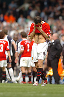 Photo: Leigh Quinnell.<br /> Tottenham Hotspur v Manchester United. The Barclays Premiership. 17/04/2006. Man Utds Ryan Giggs after the game.