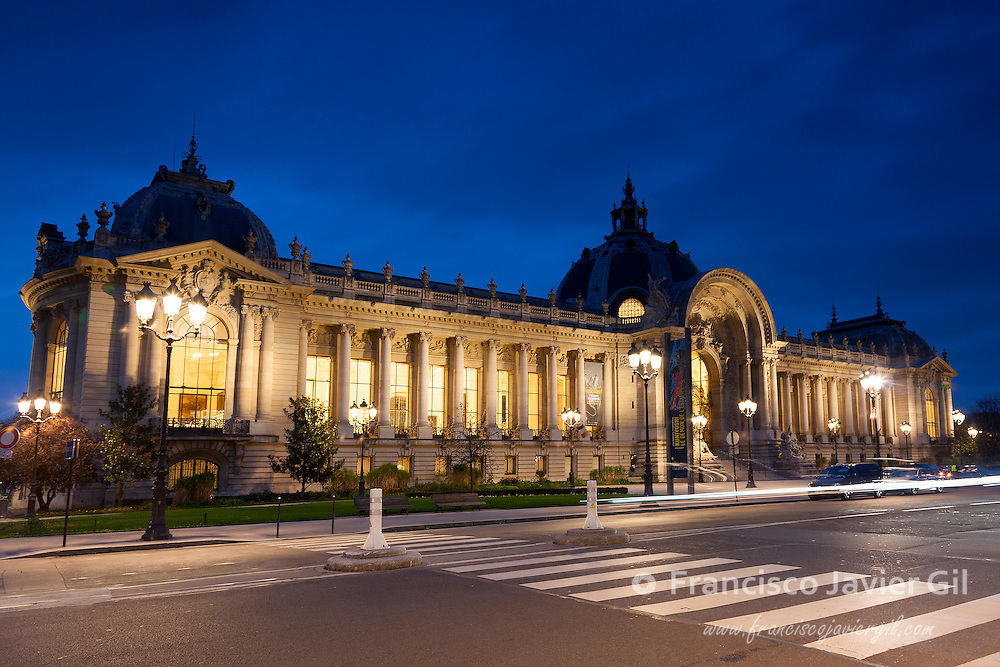 The facade of the Petit Palais, Museum of Fine Arts, Avenue Winston Churchill, Paris, Ile de France, France