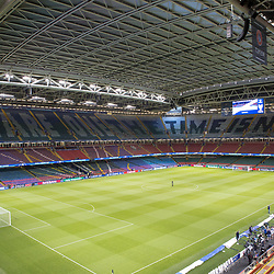 Juventus v Real Madrid UEFA Champions League final 2 June 2017; The roof is closed before the Juventus v Real Madrid UEFA Champions League final training session at the Principality Stadium, Cardiff<br /> <br /> &copy; Chris McCluskie | SportPix.org.uk
