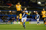 Hull City defender Curtis Davies clears from Birmingham City midfielder Jon Toral 0-0 during the Sky Bet Championship match between Birmingham City and Hull City at St Andrews, Birmingham, England on 3 March 2016. Photo by Alan Franklin.