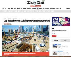 Khaleej Times; Construction site in Dubai