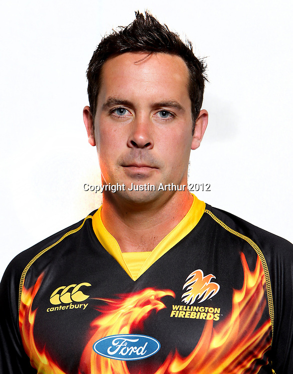 Dane Hutchinson, Wellington Firebirds HRV domestic cricket headshots. Basin Reserve, Wellington, New Zealand on Friday 21 December 2012. Photo:Justin Arthur / photosport.co.nz
