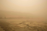 JIUQUAN, CHINA - MARCH 31: (CHINA OUT) <br /> <br /> Sand Storm Hits China<br /> <br /> The Mogao Grottoes meet the first regional dust weather of this spring on March 31, 2015 in Jiuquan, Gansu province of China. Sand storm hits Gansu, which caused the temporarily close down of the world cultural heritage mogao grottoes on Tuesday.<br /> ©Exclusivepix Media