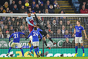 Leicester City goalkeeper Kasper Schmeichel (1) makes a save during the Premier League match between Leicester City and West Ham United at the King Power Stadium, Leicester, England on 22 January 2020.