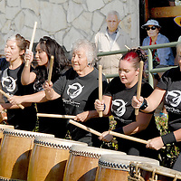 Members from the Los Angeles Taiko Center perform at Palisades Park during the 3rd Annual  Senior & Family Intergenerational Arts Festival: Celebration of Life on Saturday, October 9, 2010.