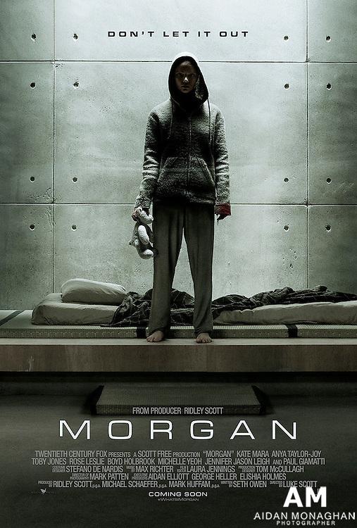 Morgan directed by Luke Scott Starring Kate Mara, Anya Taylor-Joy,Rose Leslie, Boyd Holbrook, and Paul Giamatti.