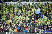 Norwich City fans before the EFL Sky Bet Championship match between Norwich City and Blackburn Rovers at Carrow Road, Norwich, England on 27 April 2019.