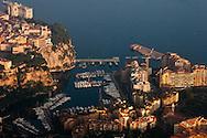 "general view of monaco , the port, the rock, the palace  Monaco  Monaco    Vue generale de Monaco, le rocher, le port, le palais  Monaco  Monaco depuis ""la tete de chien""  L0055511"