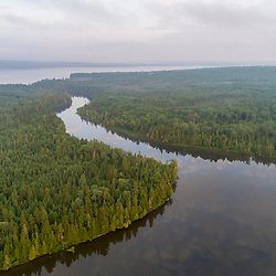 Cross Lake where it drains into Square Lake in Square Lake Township, Maine.