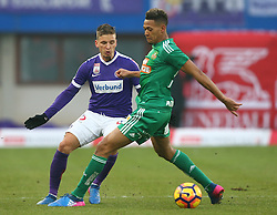 12.02.2017, Ernst Happel Stadion, Wien, AUT, 1. FBL, FK Austria Wien vs SK Rapid Wien, 21. Runde, im Bild Jens Stryger Larsen (FK Austria Wien) und Joelinton Cassio Apolinario de Lira (SK Rapid Wien) // during Austrian Football Bundesliga Match, 21st Round, between FK Austria Vienna and SK Rapid Vienna at the Ernst Happel Stadion, Vienna, Austria on 2017/02/12. EXPA Pictures © 2017, PhotoCredit: EXPA/ Thomas Haumer