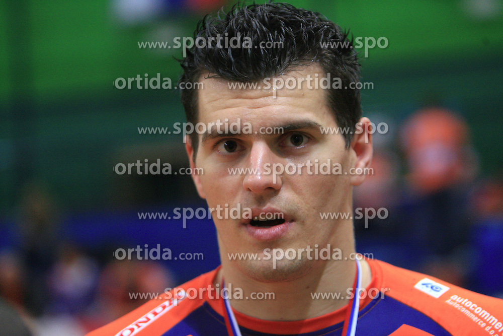 Davor Cebron at last final volleyball match of 1.DOL Radenska Classic between OK ACH Volley and Salonit Anhovo, on April 21, 2009, in Arena SGS Radovljica, Slovenia. ACH Volley won the match 3:0 and became Slovenian Champion. (Photo by Vid Ponikvar / Sportida)