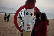 Haeundae Beach, Busan, South Korea, Republic of Korea, KOR, 13 February 2010.
