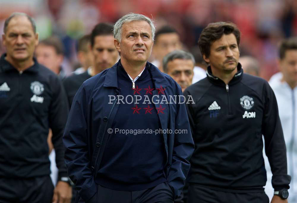 MANCHESTER, ENGLAND - Saturday, September 10, 2016: Manchester United's manager Jose Mourinho before the FA Premier League match against Manchester City at Old Trafford. (Pic by David Rawcliffe/Propaganda)