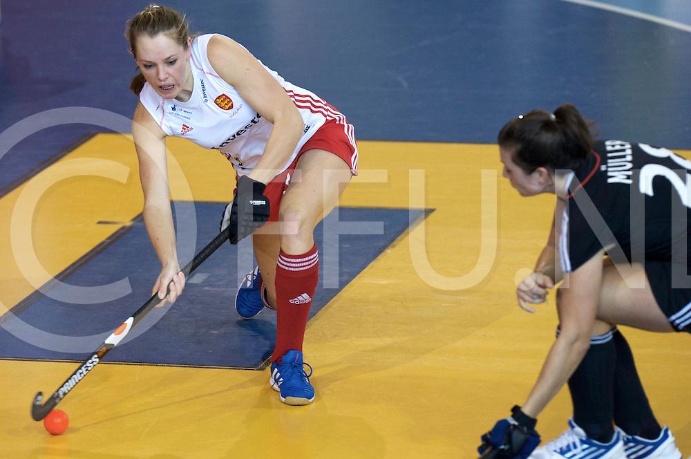 Prague - EuroHockey Indoor Championship (W) 2014<br /> 11 GER v ENG (Pool A)<br /> foto: Giselle Anshley.<br /> FFU PRESS AGENCY COPYRIGHT FRANK UIJLENBROEK