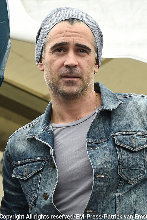 Colin Farrell is aanwezig bij het WK voetbal voor daklozen, waar hij het Ierse team aanmoedigt<br /> <br /> Colin Farrell attends the World Cup for the homeless, where he encourages the Irish team