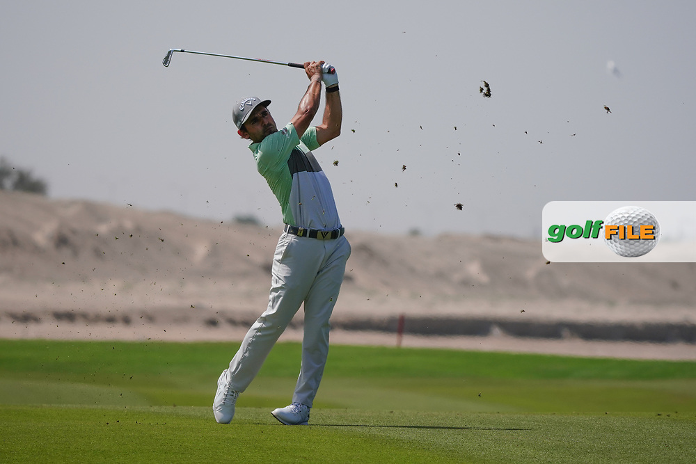 Fabrizio Zanotti (PAR) on the 9th during Round 3 of the Oman Open 2020 at the Al Mouj Golf Club, Muscat, Oman . 29/02/2020<br /> Picture: Golffile | Thos Caffrey<br /> <br /> <br /> All photo usage must carry mandatory copyright credit (© Golffile | Thos Caffrey)