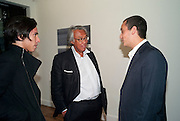 "DAVID TANG; ALEX DELLAL, Video artist Yi Zhou  first solo show ""I am your Simulacrum"".Exhibition opening at 20 Hoxton Square Projects. Hoxton Sq. London. 1 September 2010.  -DO NOT ARCHIVE-© Copyright Photograph by Dafydd Jones. 248 Clapham Rd. London SW9 0PZ. Tel 0207 820 0771. www.dafjones.com."