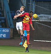 Dundee&rsquo;s Kevin Holt and Partick Thistle&rsquo;s David Amoo - Dundee v Partick Thistle, Ladbrokes Premiership at Dens Park<br /> <br />  - &copy; David Young - www.davidyoungphoto.co.uk - email: davidyoungphoto@gmail.com