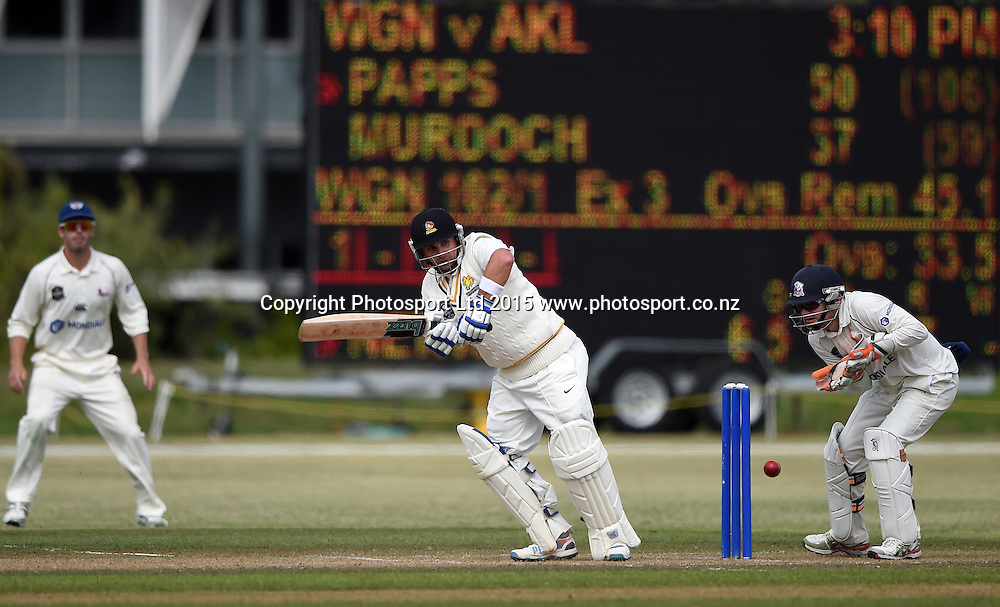 Wellington's Michael Papps batting during day 3 of the Plunket Shield cricket match between Auckland and Wellington at Colin Maiden Park, Auckland, New Zealand. Thursday 19 March 2014. Copyright Photo: Andrew Cornaga / www.Photosport.co.nz