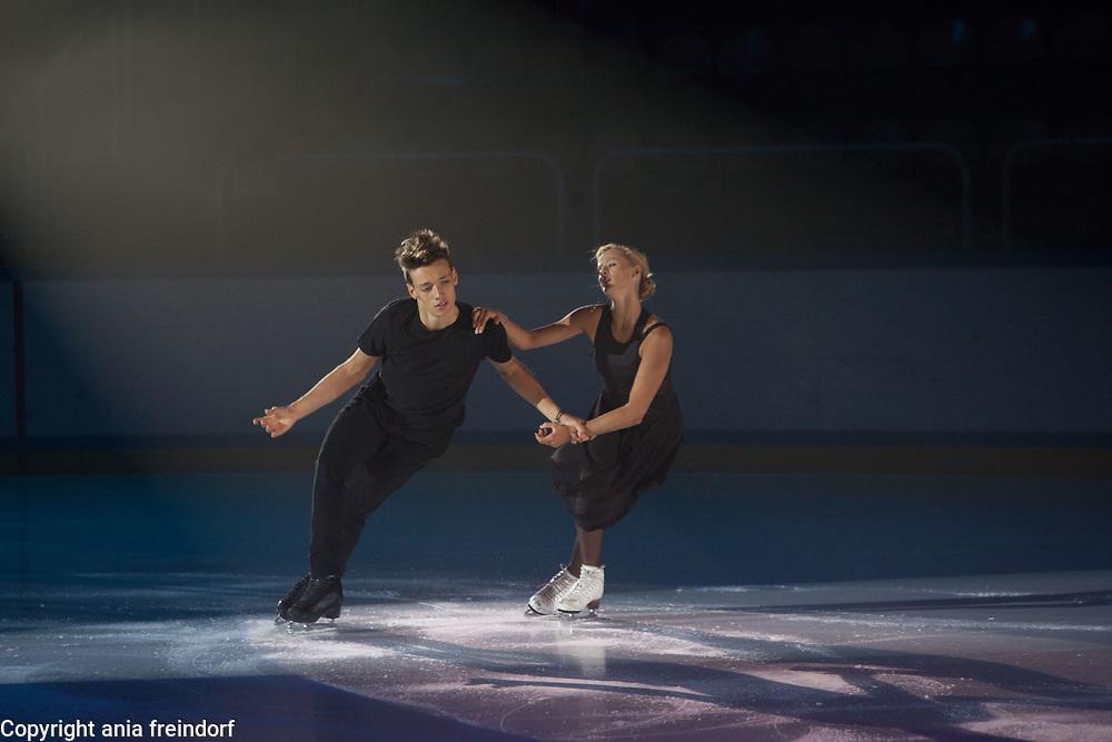 International Ice Skating Gala, Courchevel, France, 20 July 2017, Carolina Portesi Peroni, Michael Chratecky, members of the Junior National Team of Italy