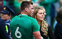 Rugby Union - 2019 pre-Rugby World Cup warm-up (Guinness Summer Series) - Ireland vs. Wales<br /> <br /> CJ Stander (Ireland) with his wife Jean-Marié at The Aviva Stadium.<br /> <br /> COLORSPORT/KEN SUTTON