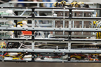 Close-up of computer part in industry