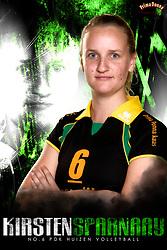 10-09-2018 NED: Team PDK Huizen season 2018-2019, Huizen<br /> The players of Top Division club vv Huizen women season 2018-2019 / Kirsten Sparnaay #6 of PDK Huizen