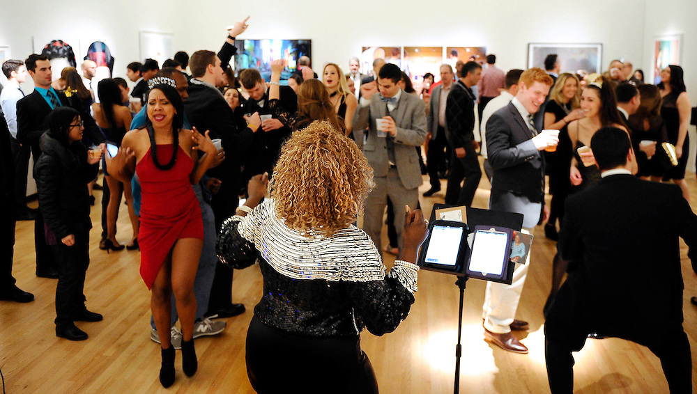 Nekita Waller performs on New Years Eve, Dec 31, 2015 at the New Britain Museum of American Art