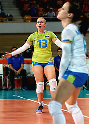 27-09-2015 NED: Volleyball European Championship Slovenie - Italie, Apeldoorn<br /> Italie wint met 3-0 van Slovenie / Sara Najdic<br /> Photo by Ronald Hoogendoorn / Sportida