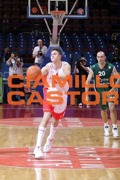 DESCRIZIONE : Milano Eurolega 2007-08 Armani Jeans Milano Unicaja Malaga <br /> GIOCATORE : Danilo Gallinari<br /> SQUADRA : Armani Jeans Milano<br /> EVENTO : Eurolega 2007-2008 <br /> GARA : Armani Jeans Milano Unicaja Malaga <br /> DATA : 08/11/2007 <br /> CATEGORIA : Passaggio<br /> SPORT : Pallacanestro <br /> AUTORE : Agenzia Ciamillo-Castoria/S.Ceretti