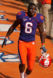 November 21, 2009; Clemson, SC, USA;  Clemson Tigers wide receiver Jacoby Ford (6) before the game against the Virginia Cavaliers at Memorial Stadium.  Clemson defeated Virginia 34-21.