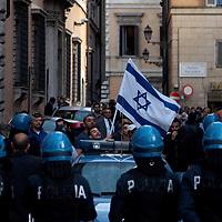 Tensione tra Comunita' ebraica e corteo pro-Palestina